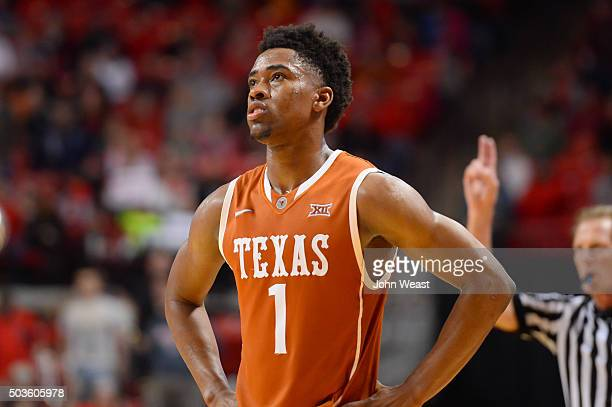 Isaiah Taylor of the Texas Longhorns stands on the court during the game against the Texas Tech Red Raiders on January 02 2016 at United Supermarkets...