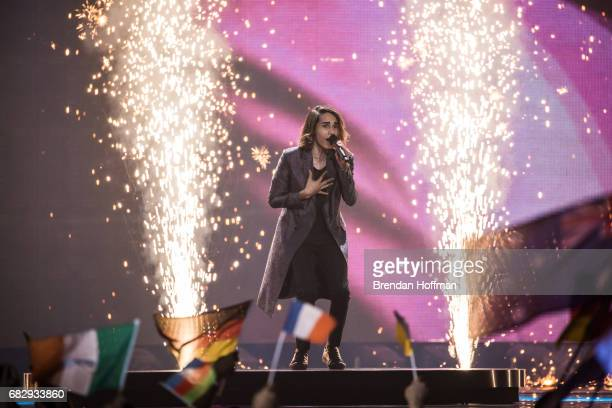 Isaiah the contestant from Australia performs at the Eurovision Grand Final on May 13 2017 in Kiev Ukraine Ukraine is the 62nd host of the annual...