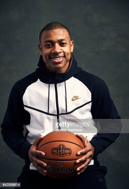 Isaiah Thomas of the Boston Celtics poses for portraits during the NBAE Circuit as part of 2017 AllStar Weekend at the RitzCarlton Hotel on February...