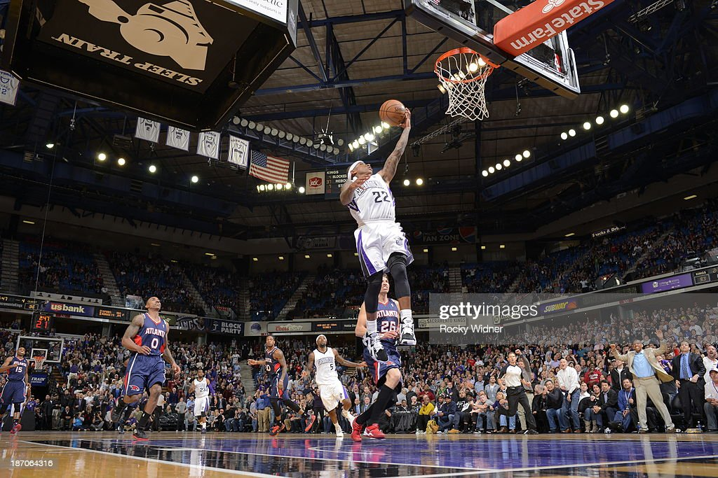 Isaiah Thomas #22 of the Sacramento Kings shoots the ball against the Atlanta Hawks at Sleep Train Arena on November 5, 2013 in Sacramento, California.