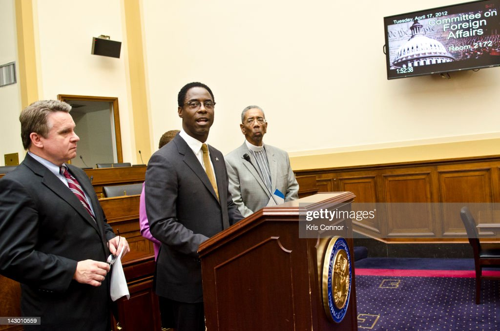 Isaiah Washington speaks during the Increasing American Jobs Through Greater Exports to Africa Act press conference at Rayburn House Office Building...