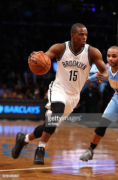 Isaiah Whitehead of the Brooklyn Nets dribbles against the Denver Nuggets during their game at Barclays Center on December 7 2016 in New York City...