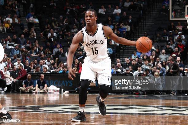 Isaiah Whitehead of the Brooklyn Nets handles the ball against the Memphis Grizzlies on February 13 2017 at Barclays Center in Brooklyn New York NOTE...
