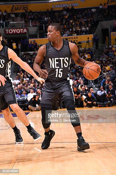 Isaiah Whitehead of the Brooklyn Nets handles the ball during the game against the Los Angeles Lakers on November 15 2016 at STAPLES Center in Los...