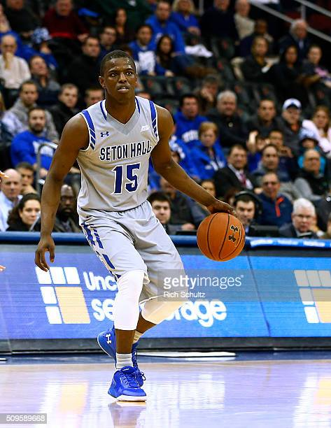 Isaiah Whitehead of the Seton Hall Pirates in action against the Butler Bulldogs during the second half of an NCAA college basketball game on...