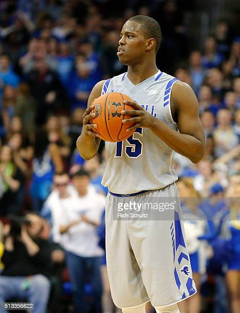 Isaiah Whitehead of the Seton Hall Pirates in action against the Providence Friars during the second half of an NCAA college basketball game on...