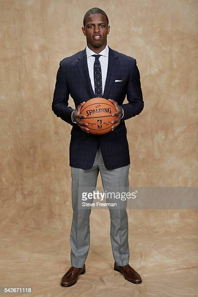 Isaiah Whitehead poses for a portrait after being drafted number forty two overall to the Utah Jazz during the 2016 NBA Draft on June 23 2016 at...