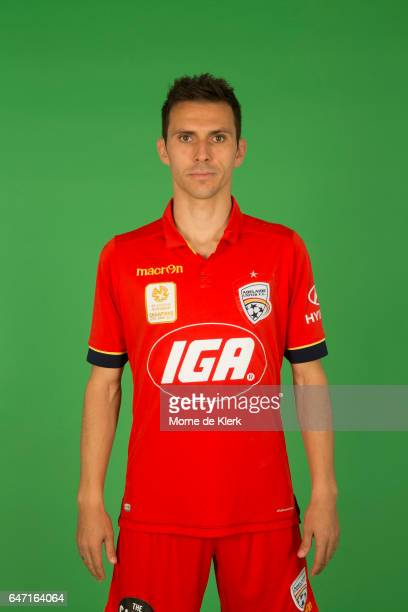 Isaias poses during the Adelaide United 2016/17 ALeague headshots session at the Adelaide United Training Centre on September 26 2016 in Adelaide...