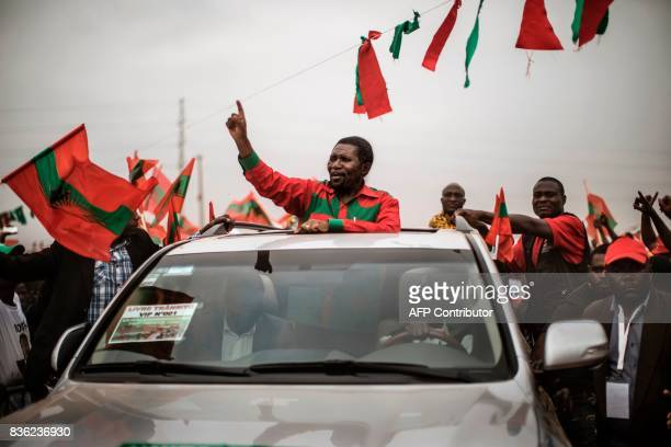 Isaias Samakuva presidential candidate for Angola's main opposition National Union for the Total Independence of Angola arrives at the closing rally...