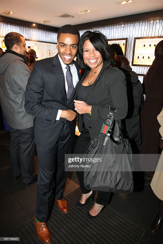 Isaish Joyner and Sheereen Miller-Russell attend the Reserv Concierge & Diptyque holiday shopping party at the Diptyque Store on November 29, 2012 in New York City.
