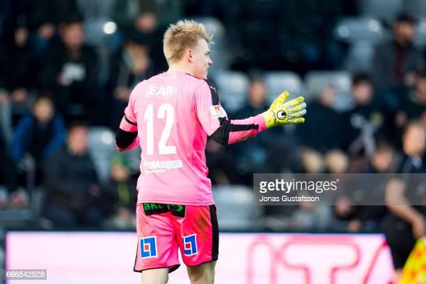 Isak Pettersson of Halmstad BK during the Allsvenskan match between Jonkopings Sodra IF and Halmstad BK at Stadsparksvallen on April 9 2017 in...