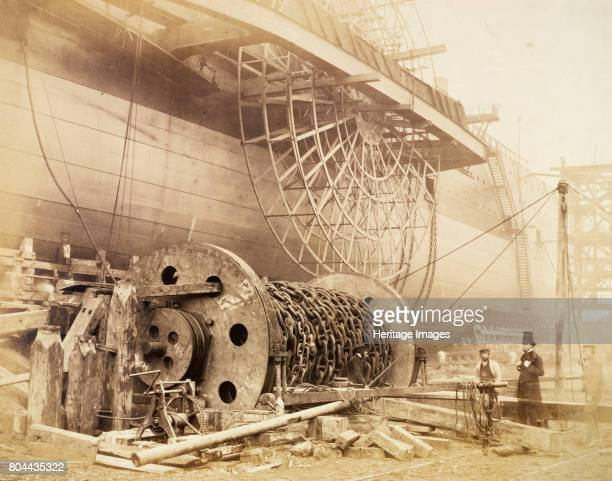 Isambard Kingdom Brunel beside the 'Great Eastern' c1857 Brunel proposed to the Eastern Steam Navigation Company the construction of a steamship five...