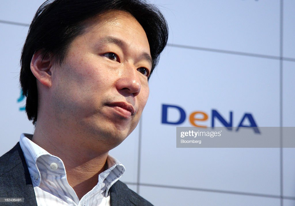 Isao Moriyasu, president of DeNA Co., listens during an interview at the Tokyo Game Show 2012 at Makuhari Messe in Chiba, Japan, on Thursday, Sept. 20, 2012. The show will be held through Sept. 23. Photographer: Tomohiro Ohsumi/Bloomberg via Getty Images