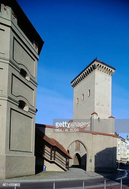 Isartor one of the old city gates now Karl Valentin Museum Munich Bavaria Germany