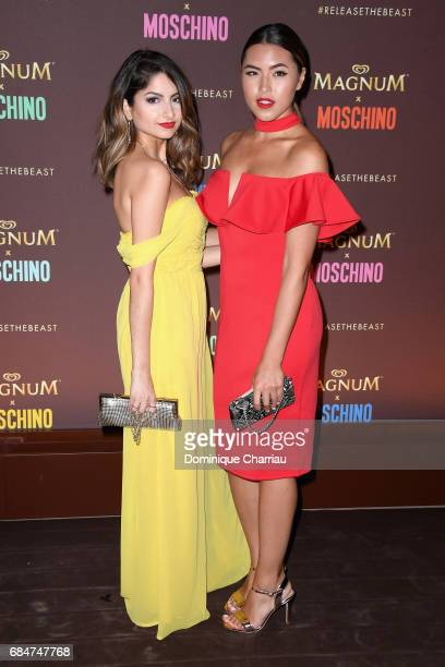 Ischtar Isik and Shanti Tan attend Magnum party during the 70th annual Cannes Film Festival at Magnum Beach on May 18 2017 in Cannes France