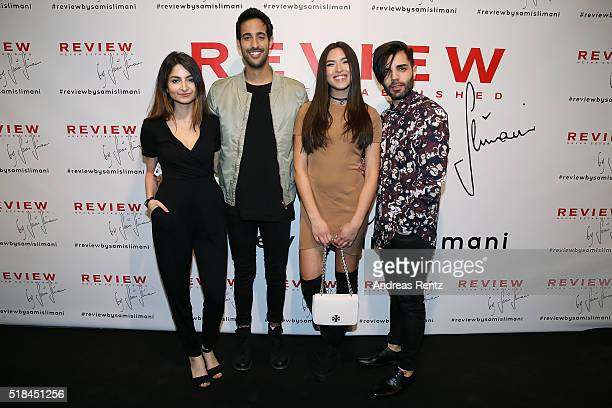 Ischtar Isik Sami Slimani Shanti Tan and Emrah Tekin attend the REVIEW by Sami Slimani Capsule Collection launch party on March 31 2016 in...