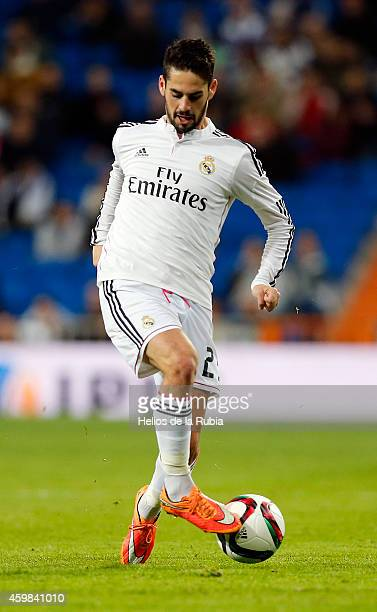Isco Alarcon of Real Madrid in actions during the Copa del Rey round of 32 second leg match between Real Madrid and UD Cornella at Estadio Santiago...