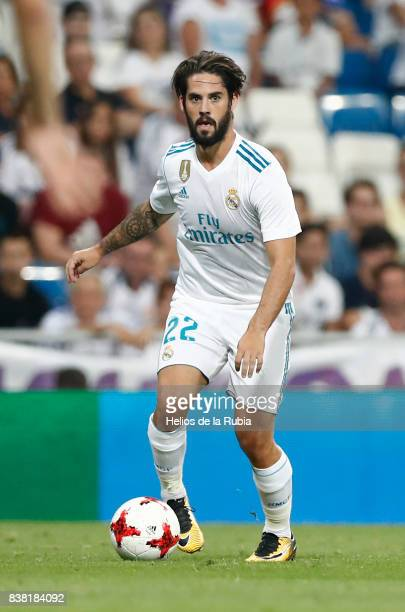 Isco Alarcon of Real Madrid in actions during the match Trofeo Santiago Bernabeu between Real Madrid CF and Fiorentina at Santiago Bernabeu Stadium...