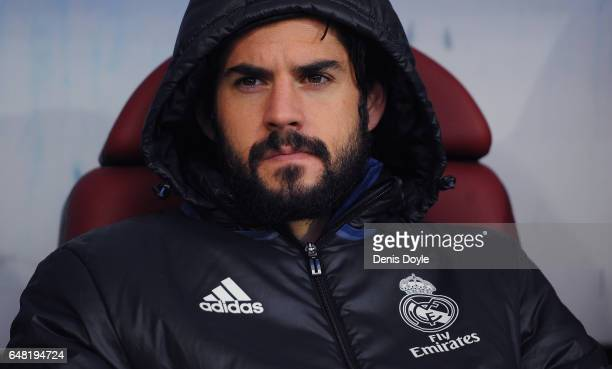 Isco Alarcon of Real Madrid looks on before the La Liga match between SD Eibar and Real Madrid CF at Estadio Municipal de Ipurua on March 4 2017 in...