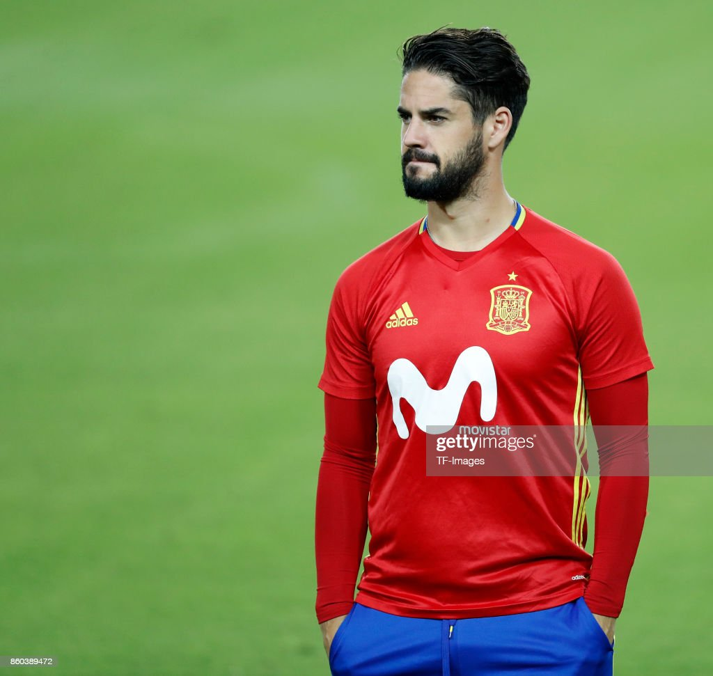 Isco Alarcon of Spain attends a training session on October 8, 2017 in Jerusalem, Israel.