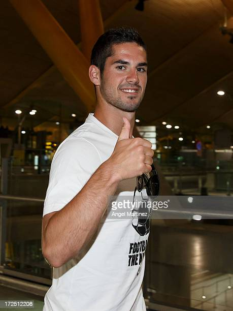 Isco arrives to Madrid to sign as a new Real Madrid player at Barajas airport on July 2 2013 in Madrid Spain