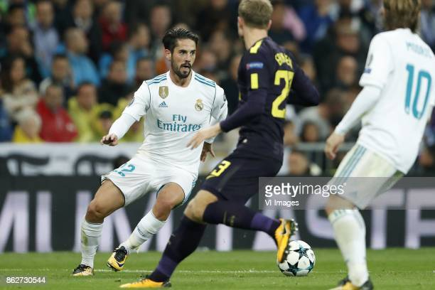 Isco of Real Madrid Christian Eriksen of Tottenham Hotspur FC Luka Modric of Real Madrid during the UEFA Champions League group H match between Real...