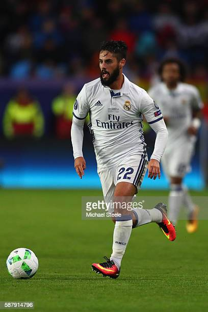 Isco of Real Madrid during the UEFA Super Cup match between Real Madrid and Sevilla at Lerkendal Stadium on August 9 2016 in Trondheim Norway