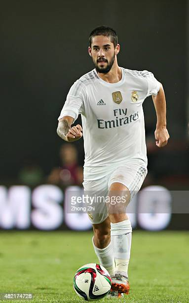 Isco of Real Madrid in action during the match of International Champions Cup China 2015 between Real Madrid and FC Internazionale at Tianhe Stadium...