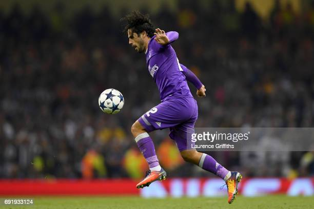 Isco of Real Madrid in action during the UEFA Champions League Final between Juventus and Real Madrid at National Stadium of Wales on June 3 2017 in...