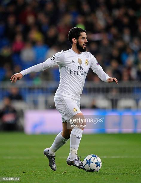 Isco of Real Madrid in action during the UEFA Champions League Group A match between Real Madrid CF and Malmo FF at the Santiago Bernabeu stadium on...