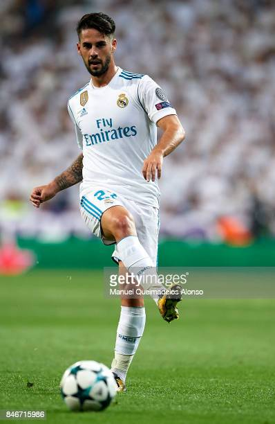 Isco of Real Madrid in action during the UEFA Champions League group H match between Real Madrid and APOEL Nikosia at Estadio Santiago Bernabeu on...