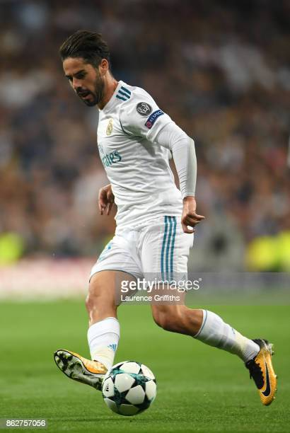 Isco of Real Madrid in action during the UEFA Champions League group H match between Real Madrid and Tottenham Hotspur at Estadio Santiago Bernabeu...
