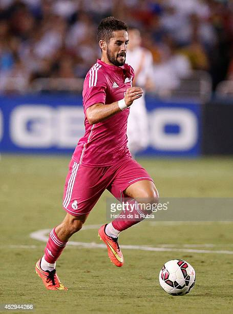 Isco of Real Madrid in actions during the preseason between Real Madrid and Roma at Guinness International Champions Cup 2014 game at Cotton Bowl on...