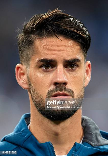 Isco of Real Madrid looks on prior to the UEFA Champions League group H match between Real Madrid and APOEL Nikosia at Estadio Santiago Bernabeu on...
