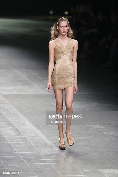 Iselin Steiro wearing Alexander McQueen Spring/Summer 2006