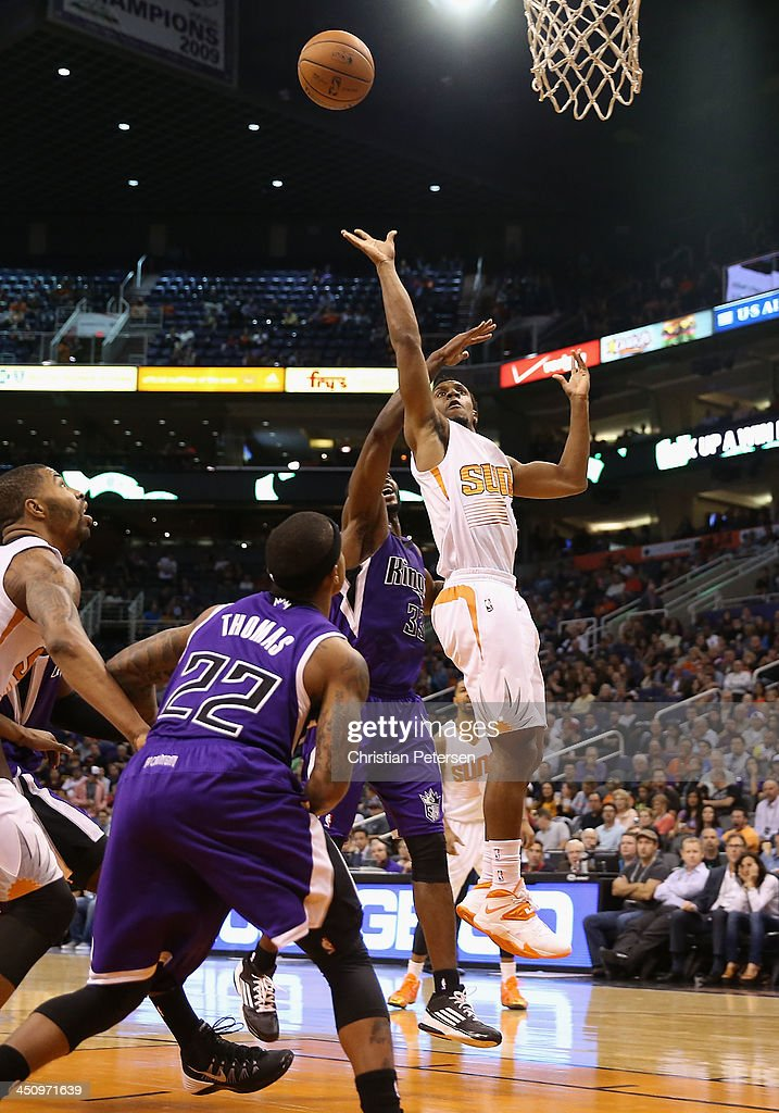 Ish Smith #3 of the Phoenix Suns puts up a shot against the Sacramento Kings during the second half of the NBA game at US Airways Center on November 20, 2013 in Phoenix, Arizona. The Kings defeated the Suns 113-106.