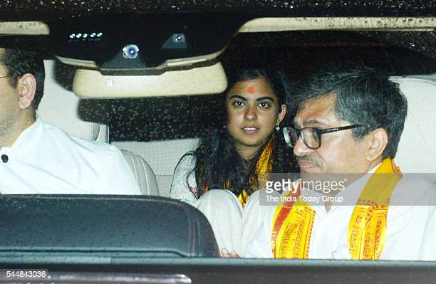 Isha Ambani at Siddhivinayak Temple in Mumbai