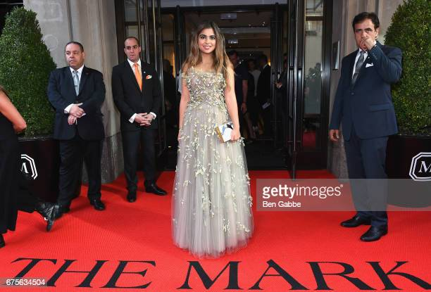 Isha Ambani leaves from The Mark Hotel for the 2017 'Rei Kawakubo/Comme des Garçons Art of the InBetween' Met Gala on May 1 2017 in New York City