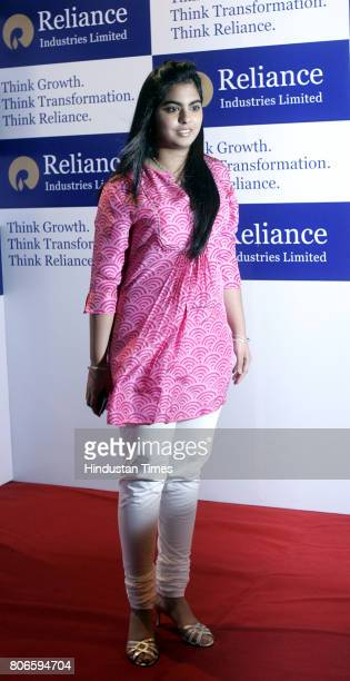 Isha Mukesh Ambani at 36th AGM of Reliance Industries in Mumbai on Friday