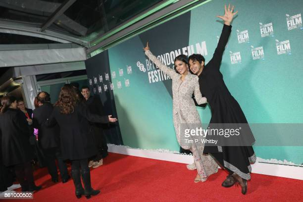 Ishaan Khatter and Malavika Mohanan attend the World Premiere of 'Beyond The Clouds' during the 61st BFI London Film Festival on October 13 2017 in...