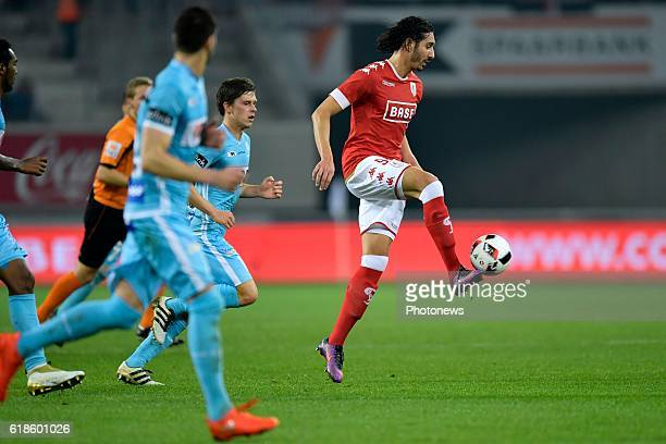 Ishak Belfodil forward of Standard Liege controls the ball during the Jupiler Pro League match between KAA Gent and Standard de Liege in the Ghelamco...