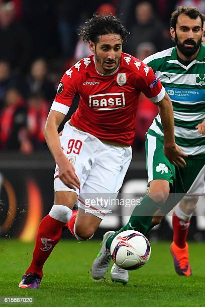 Ishak Belfodil forward of Standard Liege during the Europa League group G math between Standard Liege and Panathinaikos on October 20 2016 in Liege...