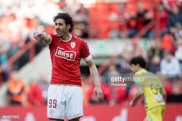 Ishak Belfodil forward of Standard Liege during the Jupiler Pro League match between Standard de Liege and KV Oostende on March 12 2017 in Liege...