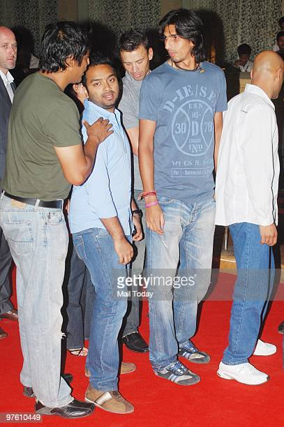 Ishant Sharma at a party hosted for international singer Akon in Mumbai March 8 2010 Akon is in Mumbai to record a song for Shah Rukh Khan's new film...
