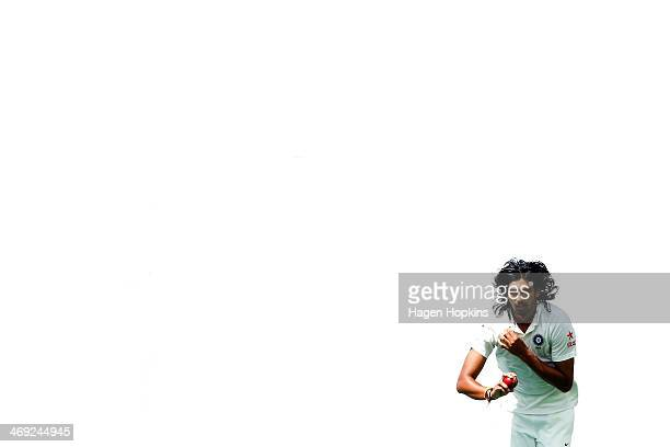 Ishant Sharma of India bowls during day one of the 2nd Test match between New Zealand and India on February 14 2014 in Wellington New Zealand
