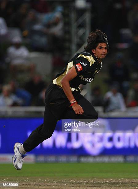 Ishant Sharma of Kolkata in action during the IPL T20 match between Deccan Chargers and Kolkata Knight Riders on April 19 2009 in Cape Town South...