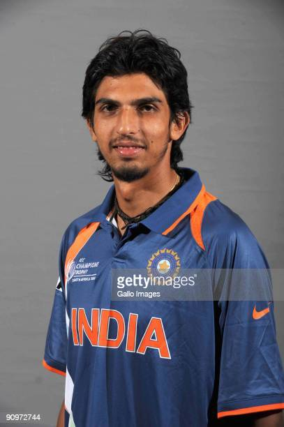 Ishant Sharma poses during the ICC Champions photocall session of India at Sandton Sun on September 19 2009 in Sandton South Africa