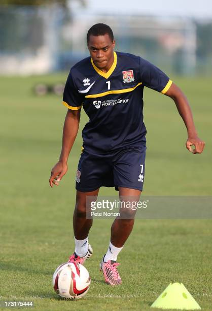 Ishmel Demontagnac of Northampton Town in action during a training session during PreSeason Training on July 3 2013 in Novigrad Croatia