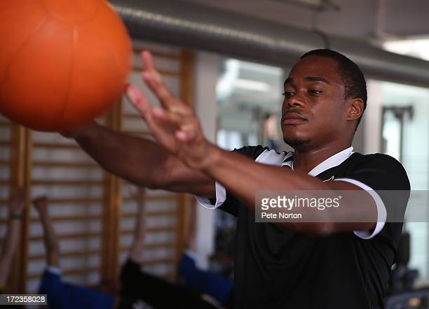 Ishmel Demontagnac of Northampton Town takes part in a gym session during PreSeason Training on July 2 2013 in Novigrad Croatia