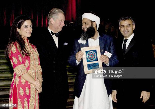 Ishtiaq Mohammed of Positive Prospects receives the Community Leadership Award from The Prince of Wales Princess Badiya bint El Hassan of Jordan and...